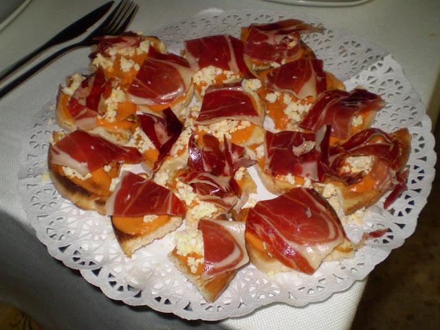 jamón con salmorejo