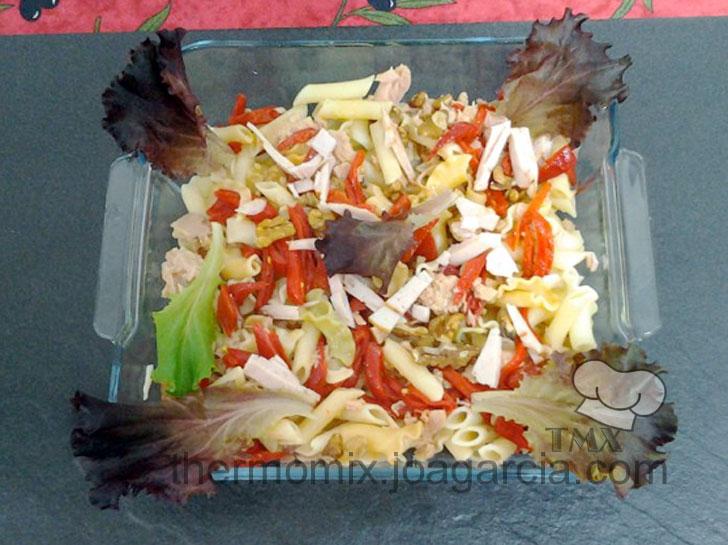 Macarrones salsa agridulce