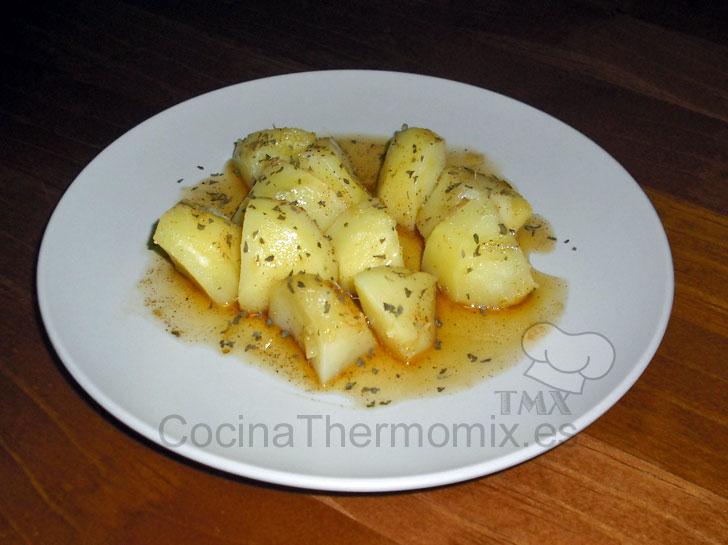 Patatas al ajillo cocina con thermomix for Cocina thermomix facil