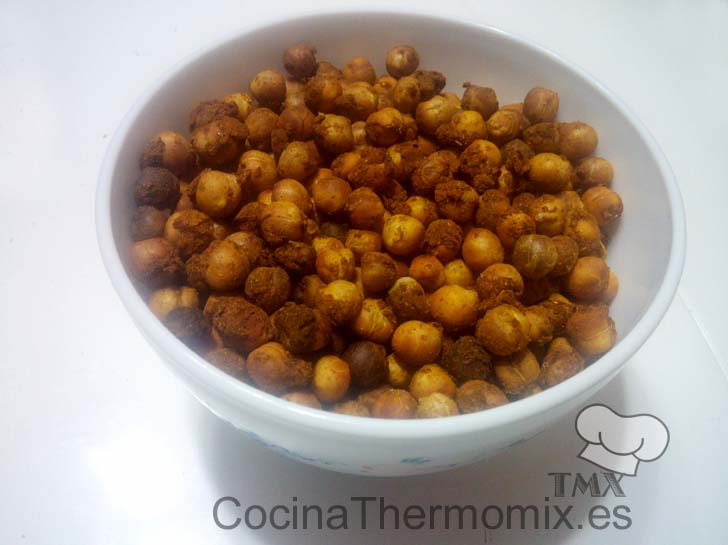 Snack de garbanzos con thermomix