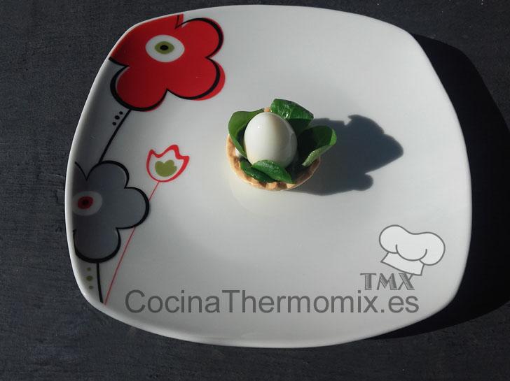 Huevo de codorniz cocido con Thermomix