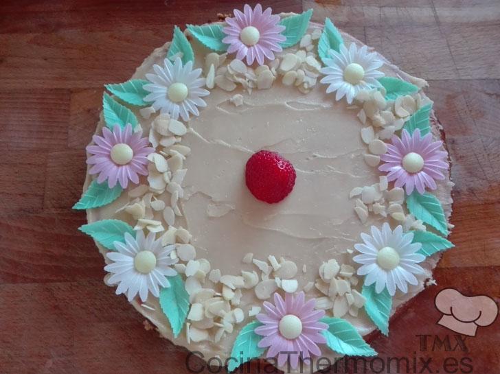 Cheesecake con chocolate blanco con Thermomix