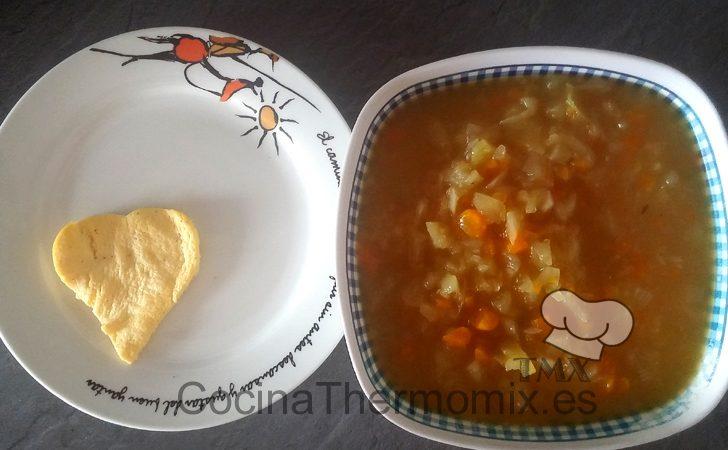 Sopa con tortilla