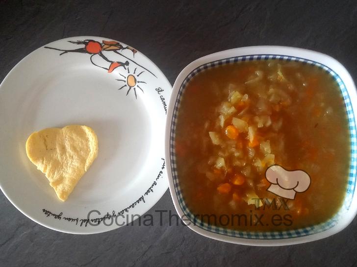 Sopa con tortilla con Thermomix