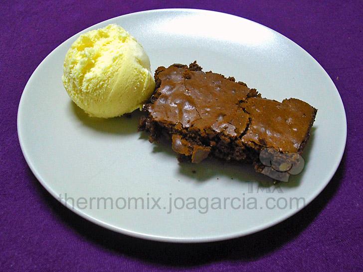 Brownie casero en Thermomix